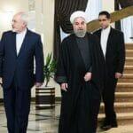 Irans außenminister Zarif und Irans Außenminister Zarif und Präsident RohaniRohani