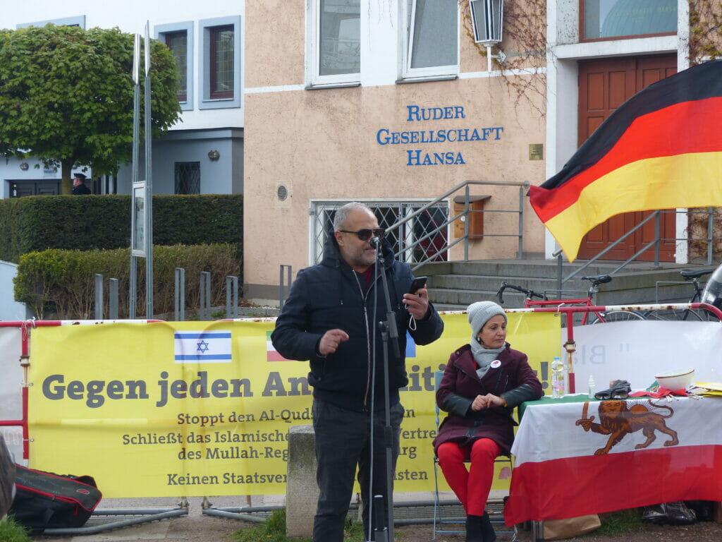 Hamburg: Protest gegen die Drahtzieher des Al-Quds-Marsches