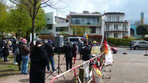 Demonstration gegen den Al-Quds-Tag vor der Blauen Mosche des Islamischen Zentrums Hamburg