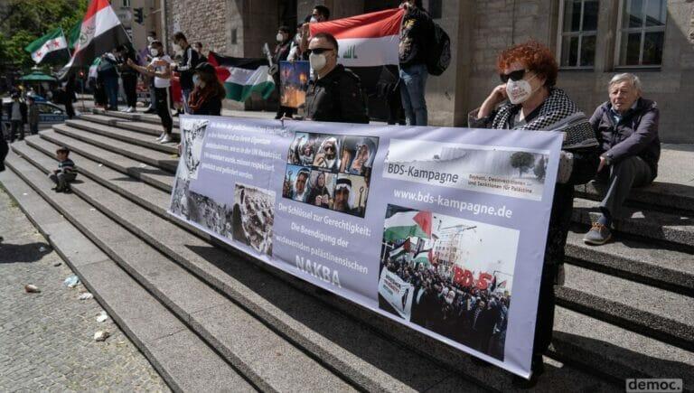 """Die antisemitische BDS-Bewegung auf der Berliner Demonstration zum """"Nakba""""-Tag"""