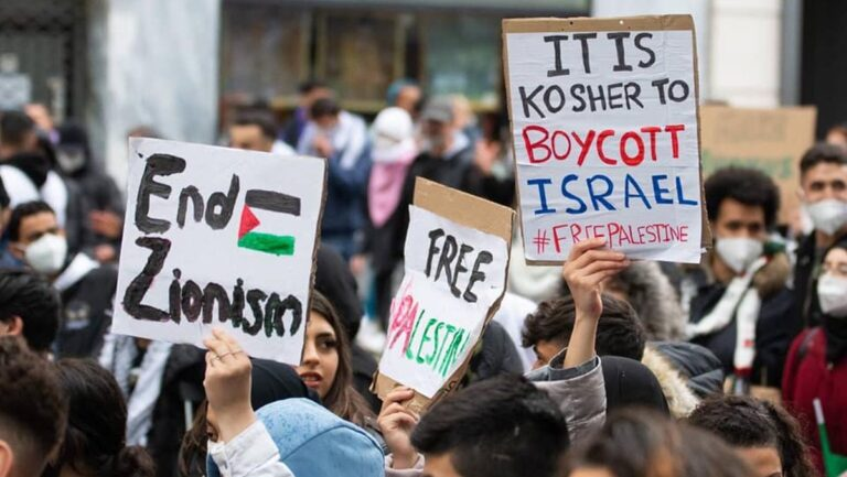 Antisemitische Demonstration in Wien am 12.05.2021