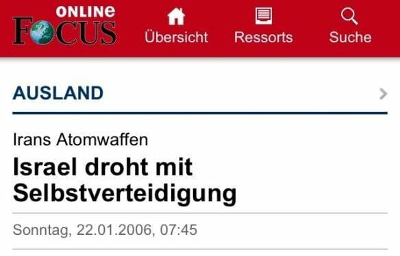 Für deutsche Medien ist so gut wie immer Israel schuld
