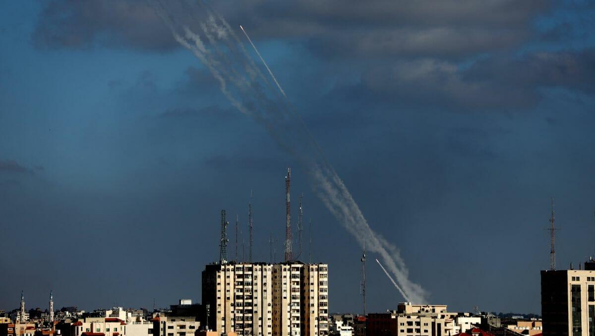 Raketensalve aus Gaza auf Israel