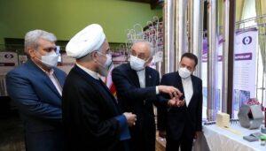 """Irans Atomchef Salehi und Präsident Rohani am """"Nationalen Tag der Nukleartechnologie"""" am 10. April"""