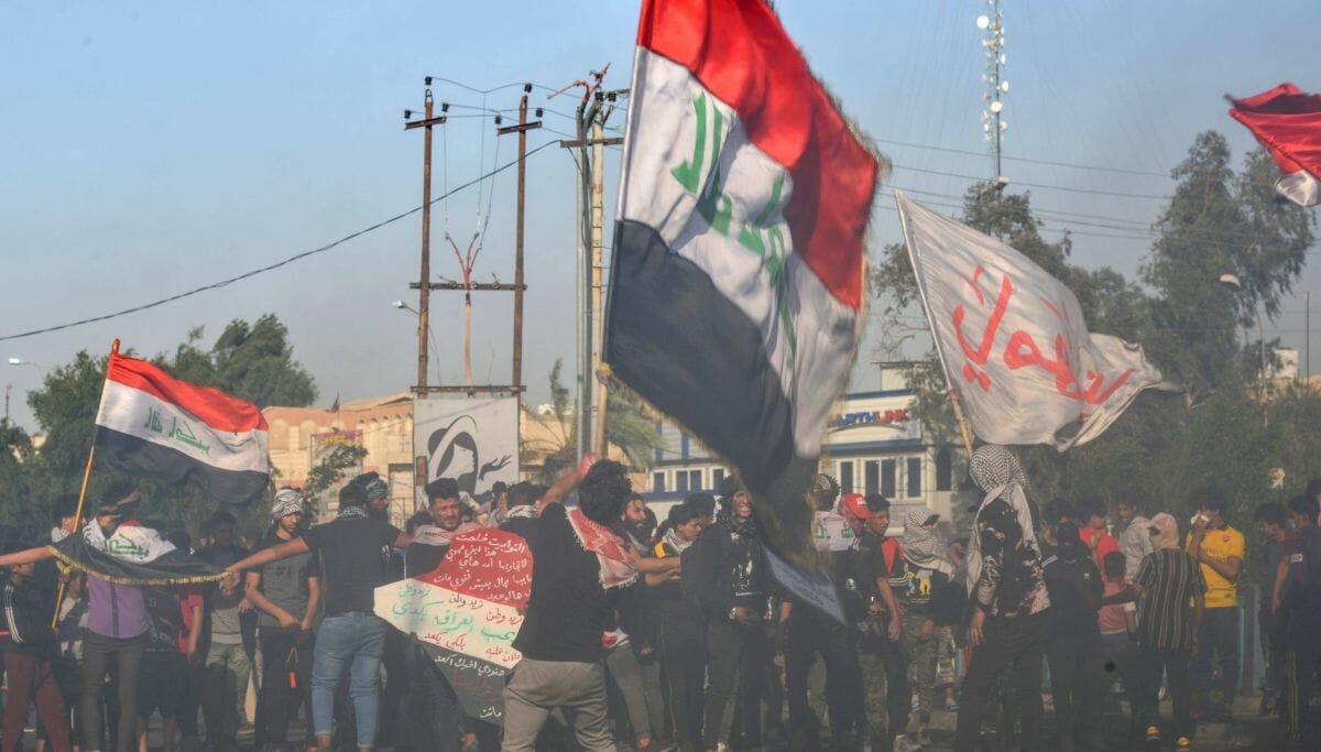 Bei den regierungskritischen Protesten im IRak kommt es immer wieder zu Gewalt gegen Demonstranten