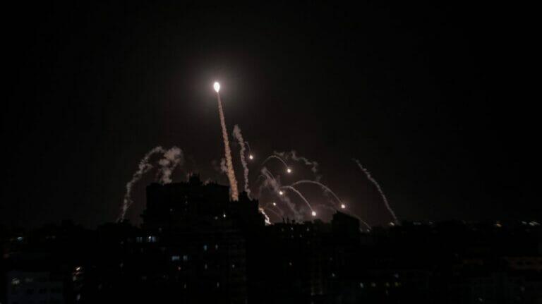 Israels Iron Dome fängte eine Rakete aus dem Gaza-Streifen ab