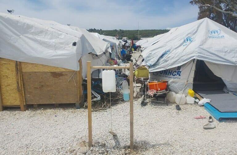 Flüchtlingslager auf Lesbos (Quelle: Wadi e.V.)