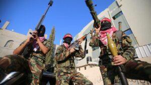 Mitglieder der PFLP auf einer Demonstration in Gaza