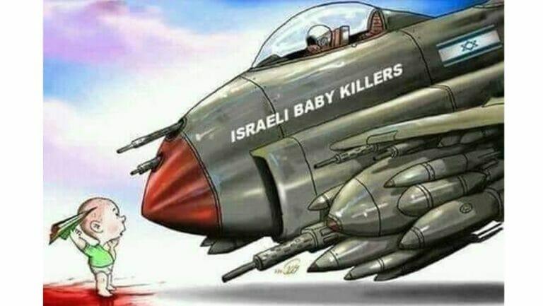 """Babymörder Israel"": Antisemitische Twitterkarikatur"