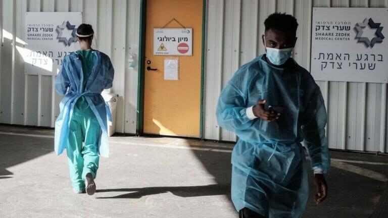 Mitarbeiter des Shaare Zedek Medical Center in Jerusalem