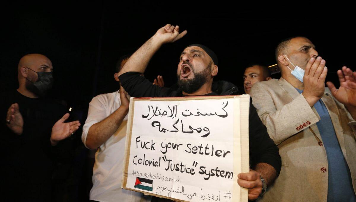 Demonstration in Jerusalem gegen die möglichen Zwangsräumungen in Sheikh Jarrah
