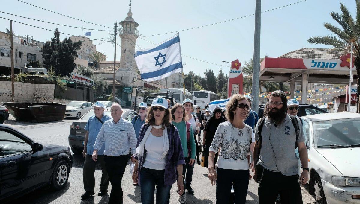 Jüdsiche Aktivisten in Shekih Jarrah am Tag des MAssakers vom 13. April 1948