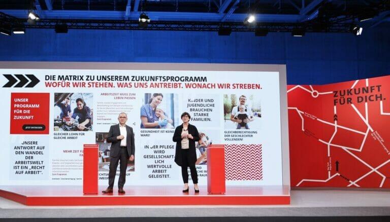 Die SPD-Parteivorsitzenden Norbert Walter-Borjans und Saskia Esken