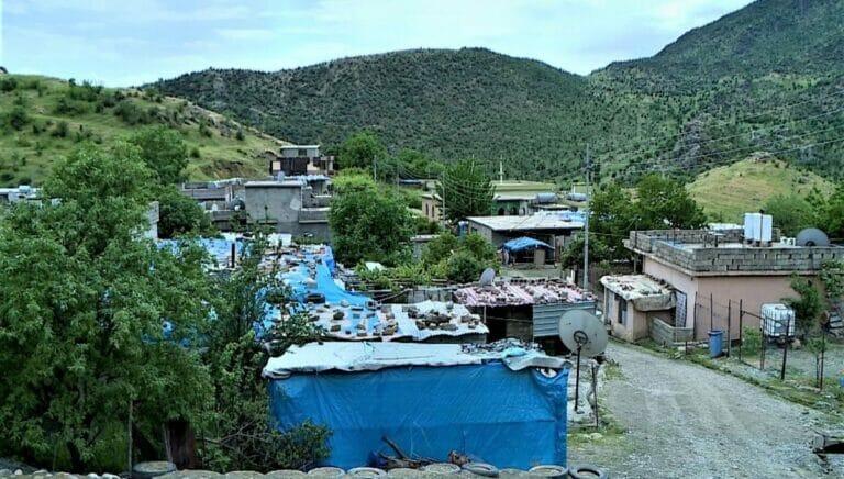 Das Dorf Kesta im Irak musste wegen türkischer Angriffe evakuiert werden