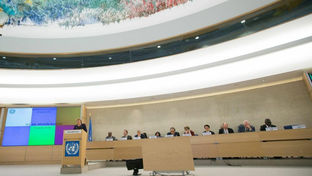 UN-Hochkommissarin Michelle Bachelet vor dem Menschenrechtsrat