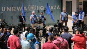 Direktor der UNRWA in Gaza, Matthias Schmale, bei einer Pressekonferenz