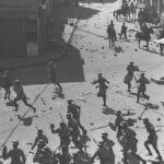 Britische Polizei versucht, die Ordnung in Yaffa wiederherzustellen