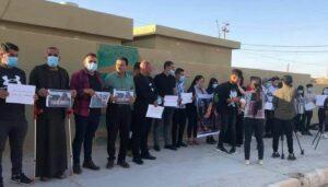 Demonstration für die Rückholung immer noch vermisster Jesiden im Irak