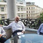 Irans Außenminister Zarif 2015 bei den Atomverhandlungen in Wien
