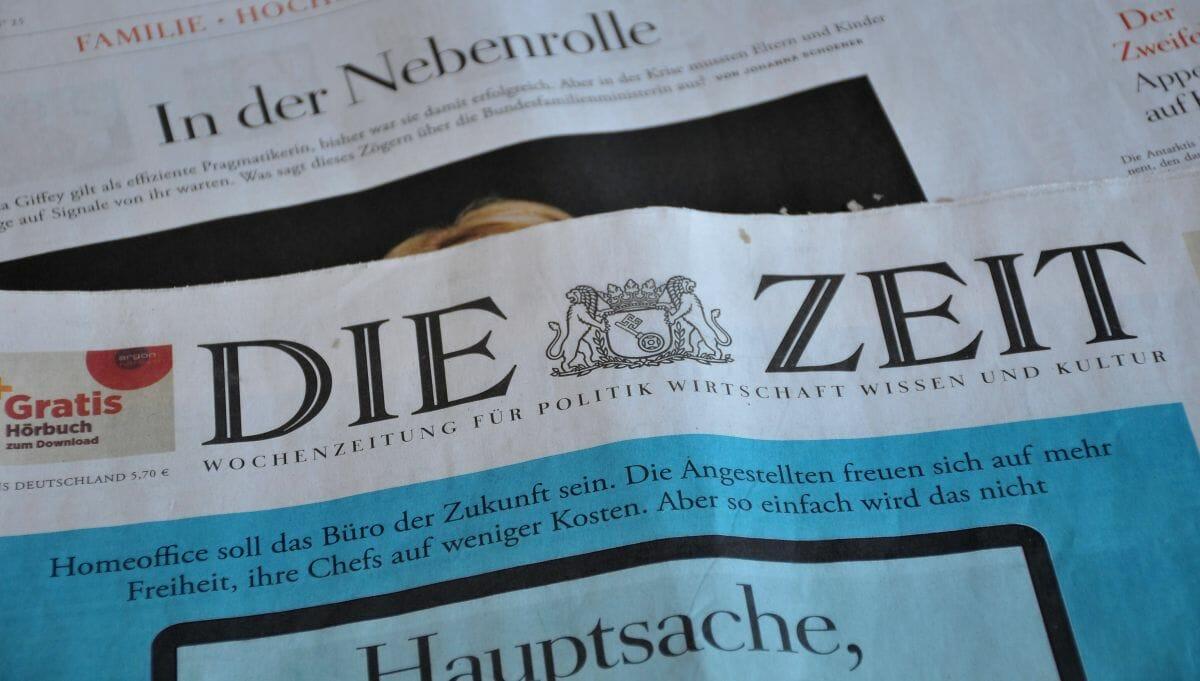 In der ZEIT durfte sich Fabian Wolff mit deutschem Mainstremadenken als Außenseiter stilisieren