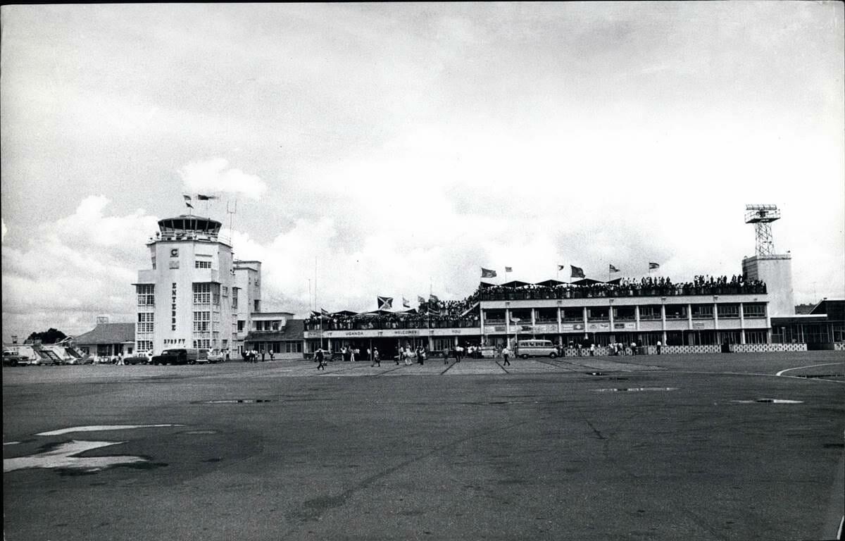 Der alte Terminal des Flughafens von Entebbe. (© imago images/ZUMA Wire)