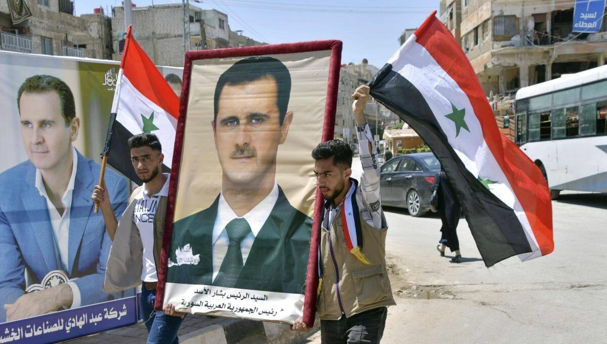 """Assad-Anhänger feiern die """"Wiederwahl"""" ihres Präsidenten"""