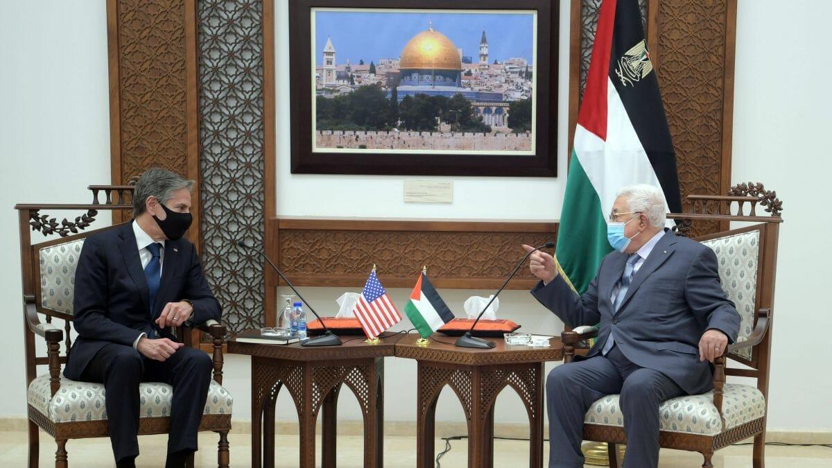 US-Außenminister Blinken zu Besuch bei Abbas in Ramallah im Mai 20121