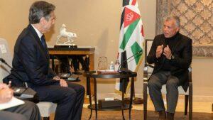 US-Außenminister Antony Blinken zu Besuch bei König Abdullah II von Jordan in Amman am 26. Mai 2021