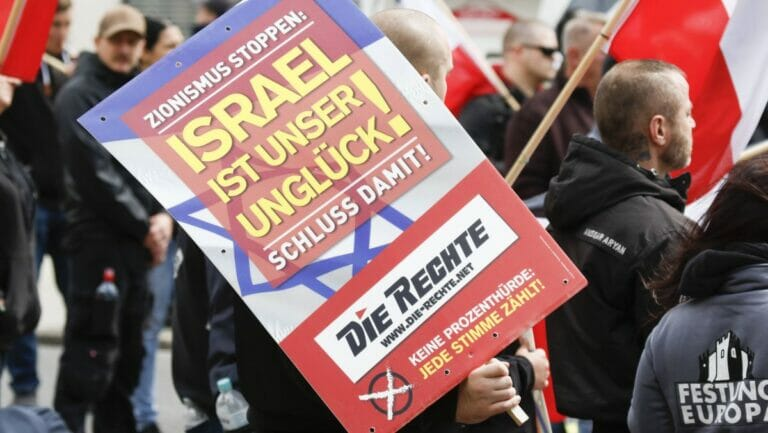 Deutsche Neonazis demonstrieren gegen Israel