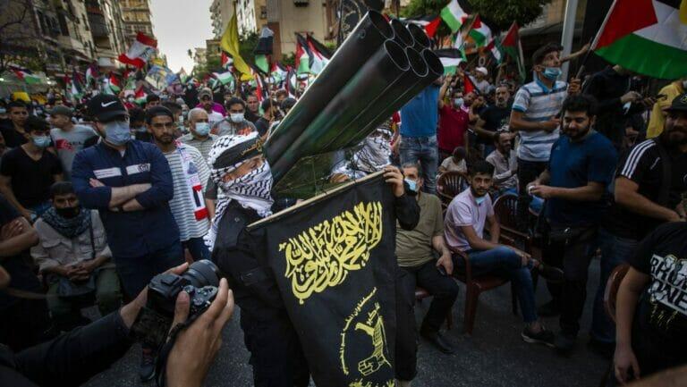 Hisbaollah-Veranstatlung für die Hamas in Beirut