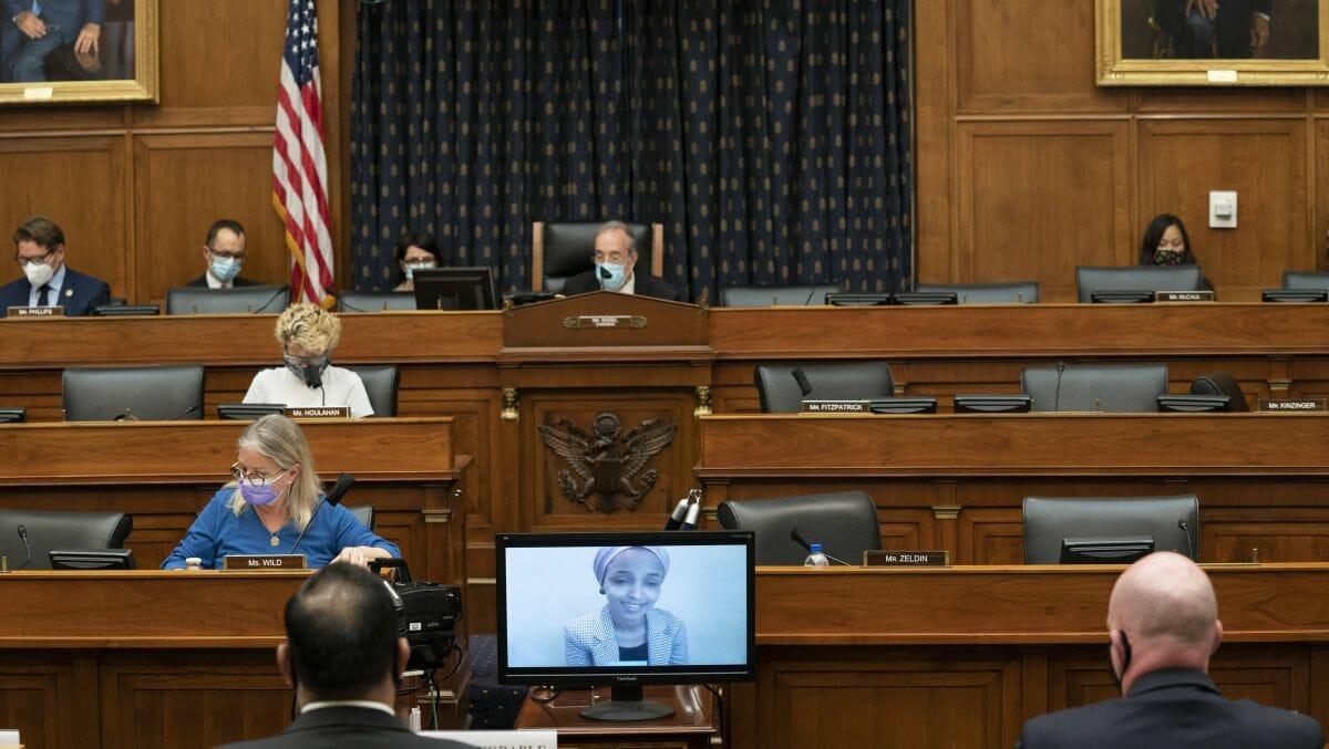 Ilhan Omar (Video) spricht bei einer Sitzung des Auswärtigen Ausschusses des Repräsentantenhauses