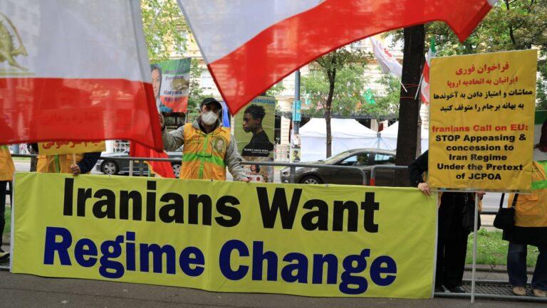 Iranische Oppositionelle dürfen in Wien nicht mehr vor den Atomverhandlungen demonstrieren
