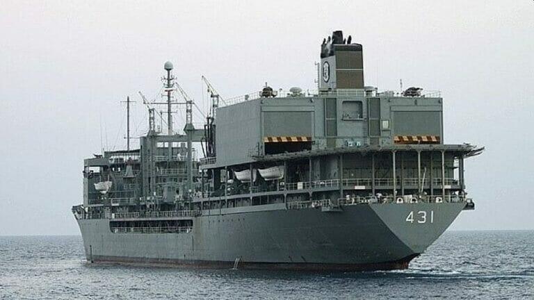 Das iranische Kriegsschiff IRIS Kharg sank am 2. Juni während einer Übung im Gulf von Oman
