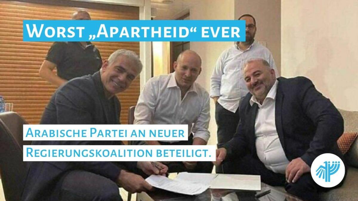 Yair Lapid, Naftali Bennett und Mansour Abbas einigen sich auf Bildung einer Koalition
