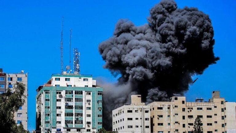 die Hamas benutzte den Al-Jalaa-Media-Tower in Gaza als Geheimdeinstbüro