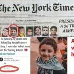 Mindestens eines der Bilder vom Cover der New York Times ist nachweislich falsch