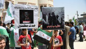 Palästinenser in Syrien demonstrieren gegen Assad