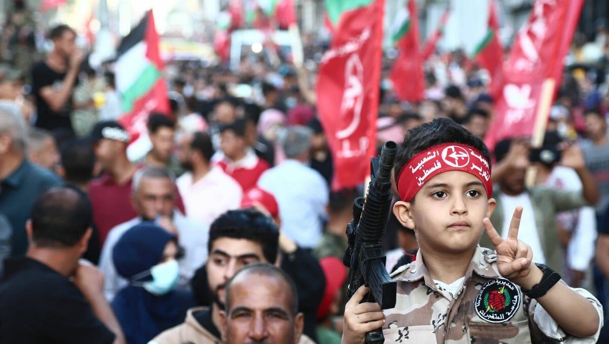 Demonstration der PFLP gegen Israel