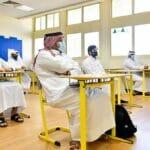 Schüler in einer weiterführenden Schule in Katars Hauptstadt Doha
