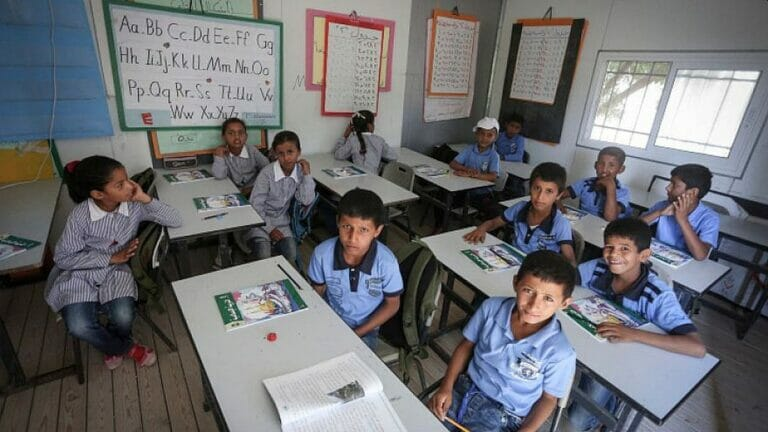 Palästinensische Schulkinder