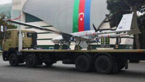 """Türkische Kampfdrohne """"Bayraktar TB2"""" kam etwa im Krieg zwischen Armenien und Aserbaidschan zum Einsatz"""