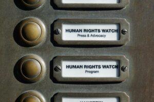 Sitz der deutschen Niederlassung von Human Rights Wath in Berlin. (© imago images/Steinach)