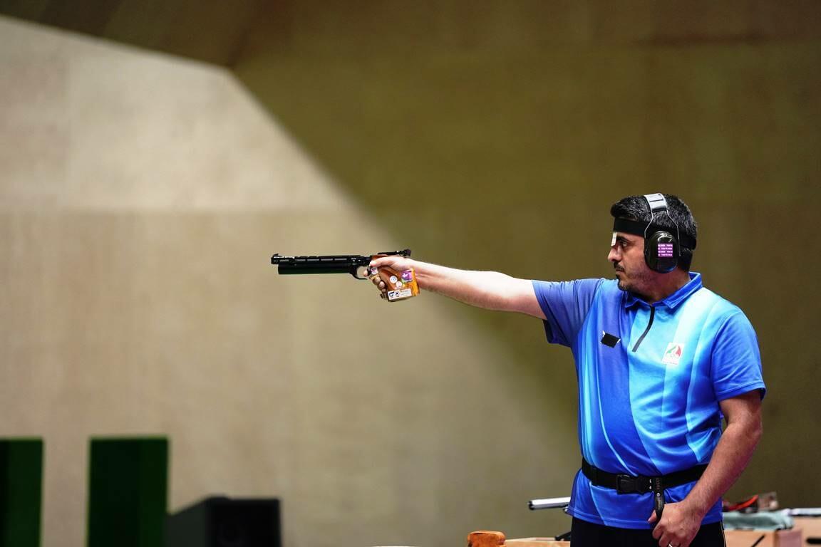 Der Iraner Javad Foroughi gewann Gold im Schießen. Vorher war er für die Basidsch-Milizen in Syrien im Einsatz. (© imago images/Xinhua)