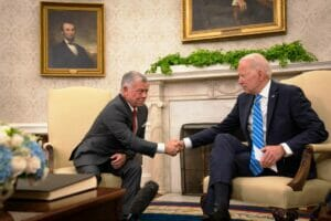 Vor wenigen Tagen war Jordaniens König Hussein II. zu Gast im Weißen Haus. (© imago images/ZUMA Wire)