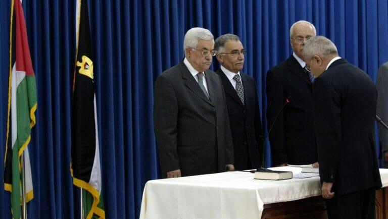 Salman Fayyad 2007 bei seiner Angelobung zum Premierminister der Palästinensichen Autonomiebehörde