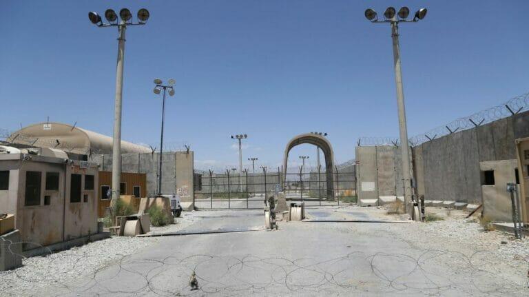 Verlassenes Lager der US- und NATO-Truppen nach deren Abzug aus Ost-Afghanistan
