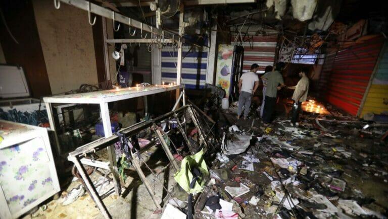 Selbstmordattentäter des Islamischen Staates zündete Sprengstoffweste auf Markt in Bagdad