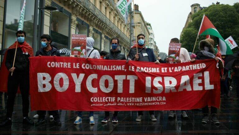 Demonstration der antisemitischen BDS-Bewegung