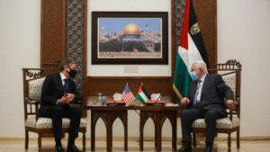 US-Außenminister Blinken bei einem Treffen mit PA-Präsidenten Abbas in Ramallah