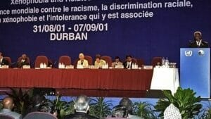 Panel der Durban-Konferenz im Jahr 2001